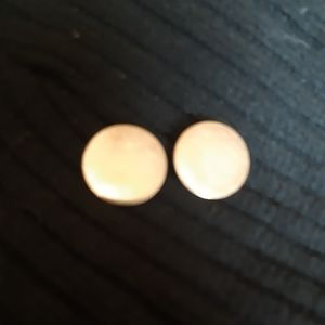 Round sterling  clip on earrings